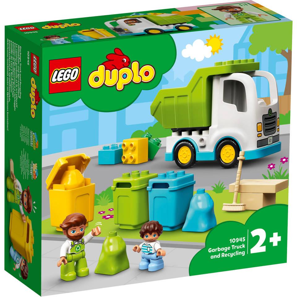 LEGO DUPLO vuilniswagen en recycling 10945