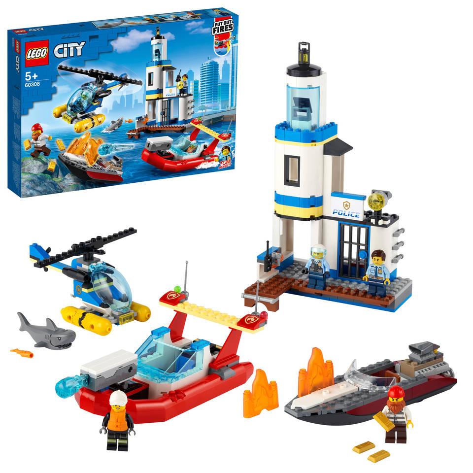 LEGO City kustpolitie en brandmissie 60308