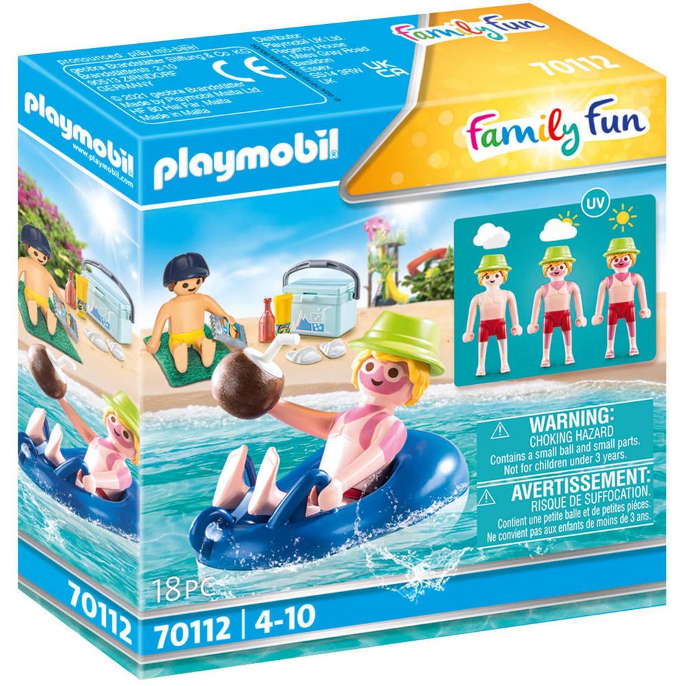 PLAYMOBIL Family Fun badgast met zwembanden 70112