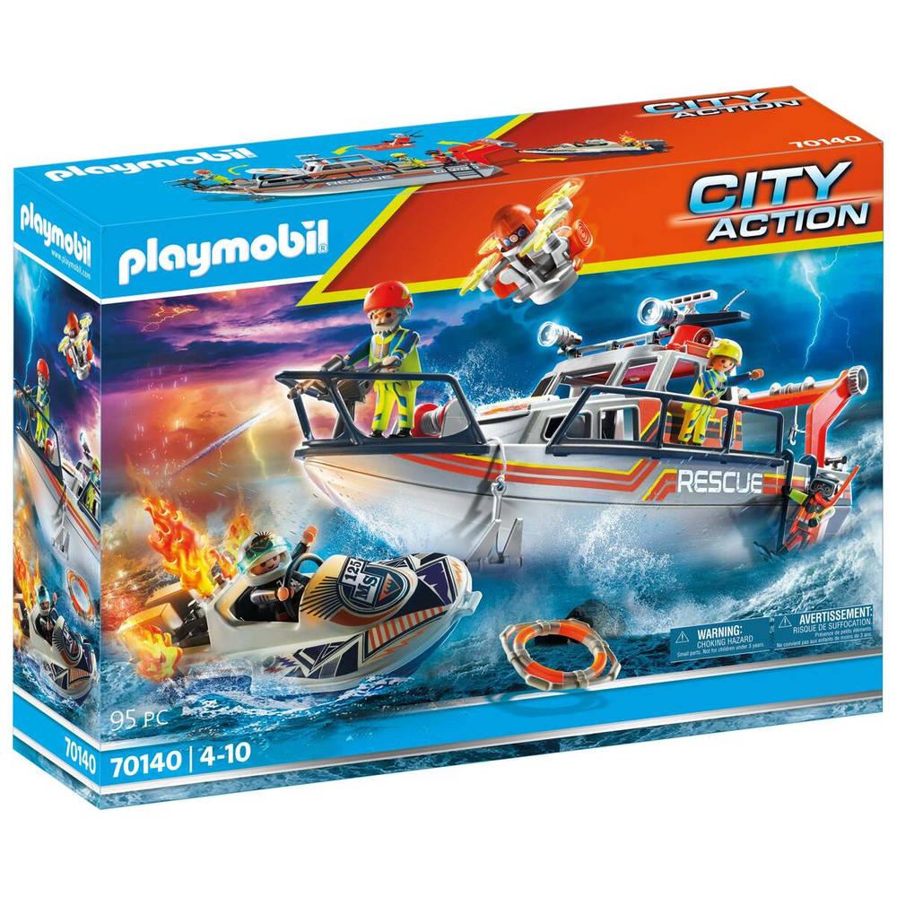 PLAYMOBIL City Action brandbestrijdingsmissie met reddingscruiser 70140