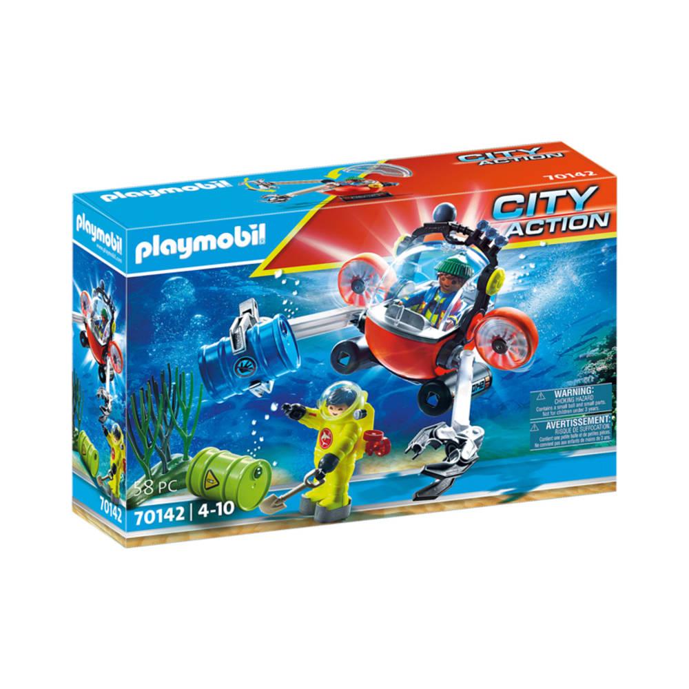 PLAYMOBIL City Action omgevingsmissie met duikboot 70142
