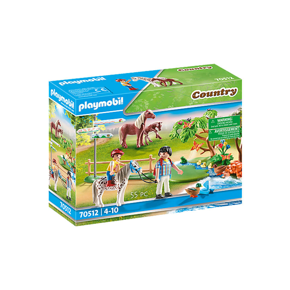 PLAYMOBIL Country gelukkige ponyreis 70512