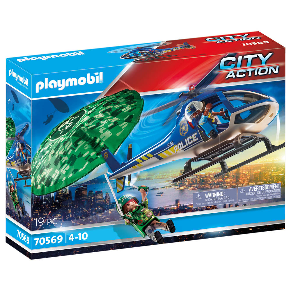 PLAYMOBIL City Action parachute achtervolging 70569