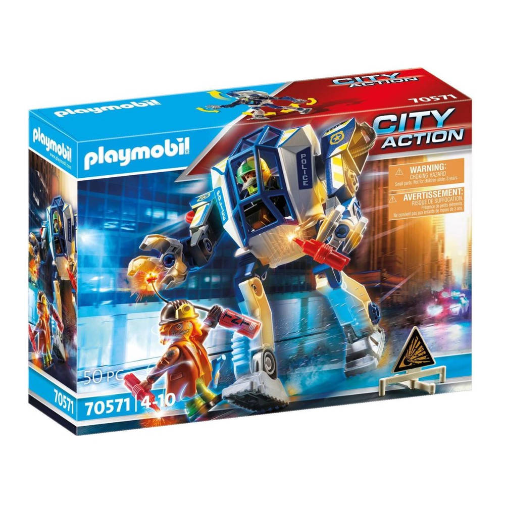 PLAYMOBIL City Action politierobots speciale eenheid 70571