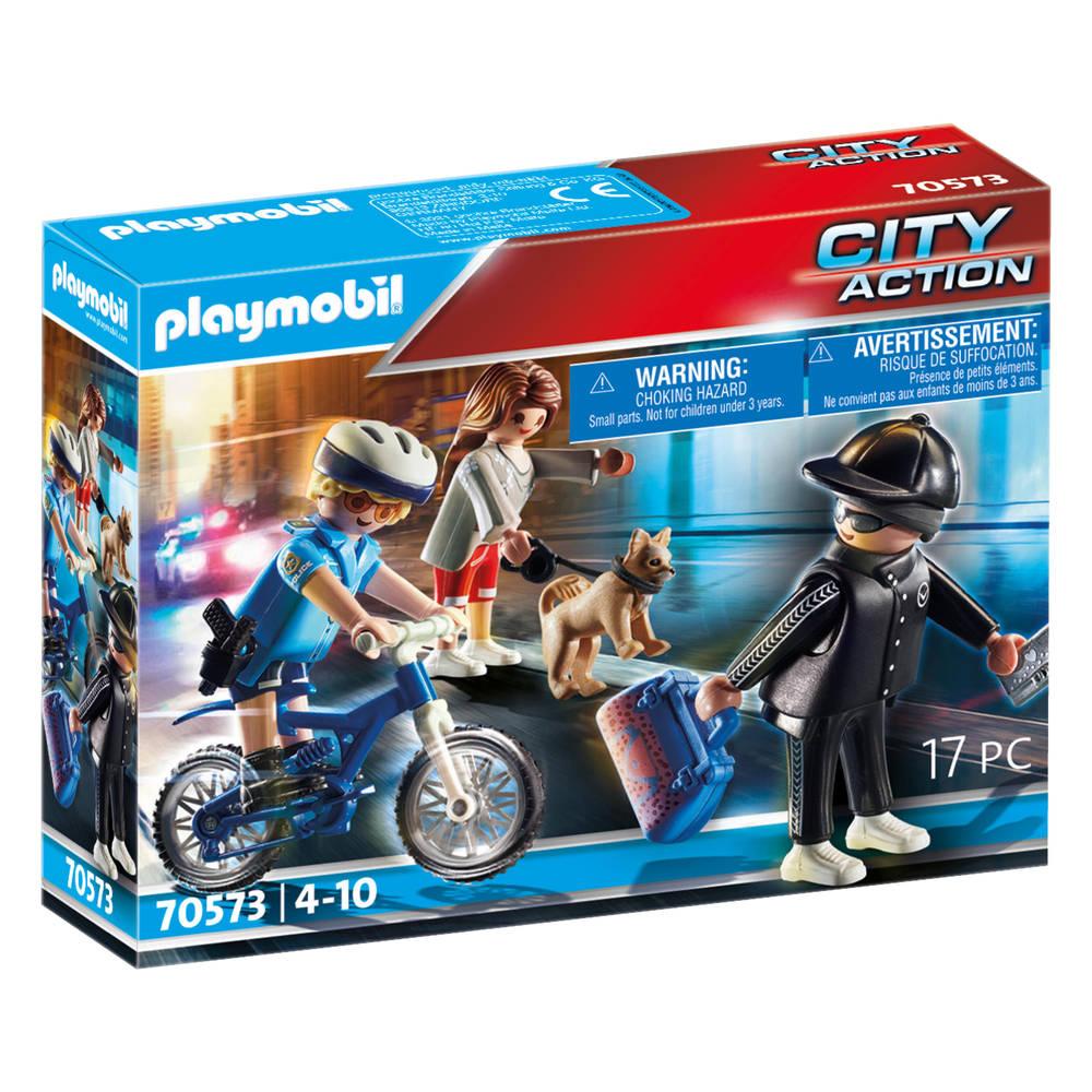 PLAYMOBIL City Action politiefiets achtervolging van de zakkenroller 70573
