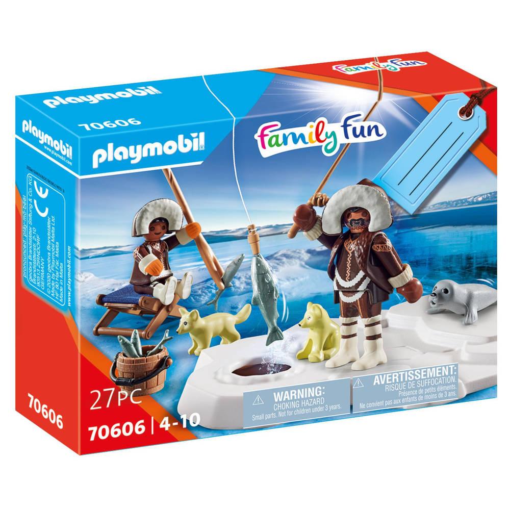 PLAYMOBIL Family Fun geschenkset ijsvisser 70606