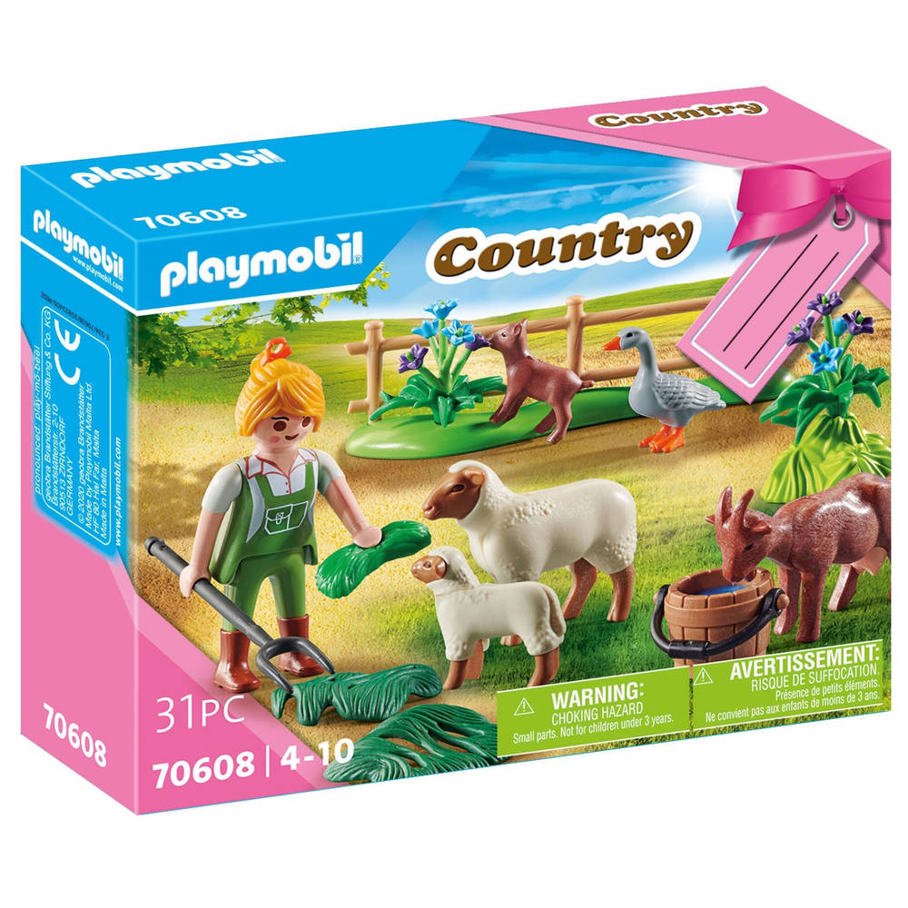 PLAYMOBIL Country geschenkset boerin met weidedieren 70608