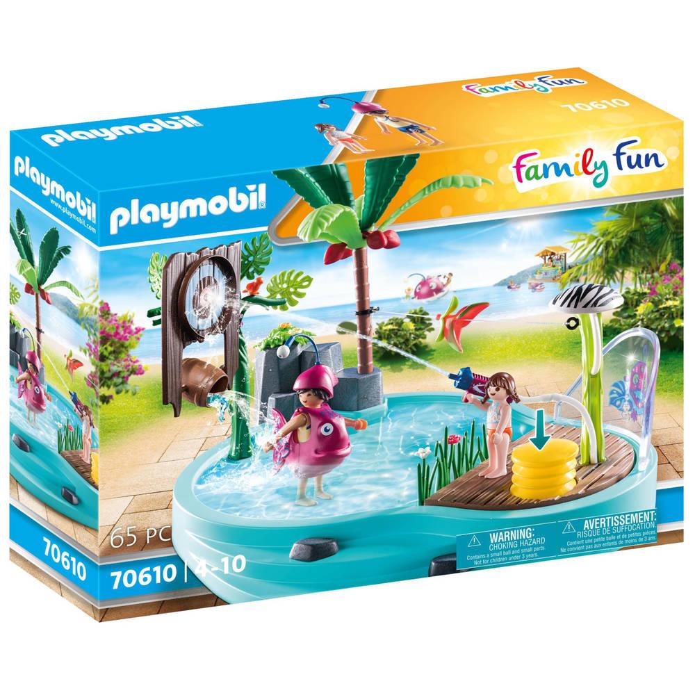 PLAYMOBIL Family Fun leuk zwembad met watersplash 70610