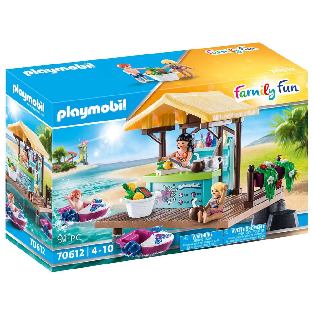 PLAYMOBIL Family Fun waterfietsen verhuur met sapbar 70612