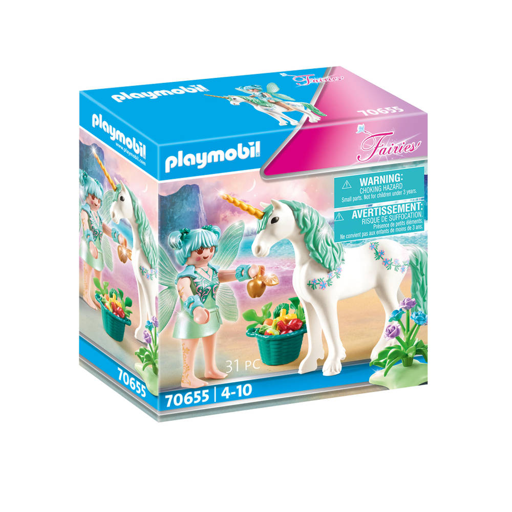 PLAYMOBIL Fairies eenhoorn met fee met fruit 70655