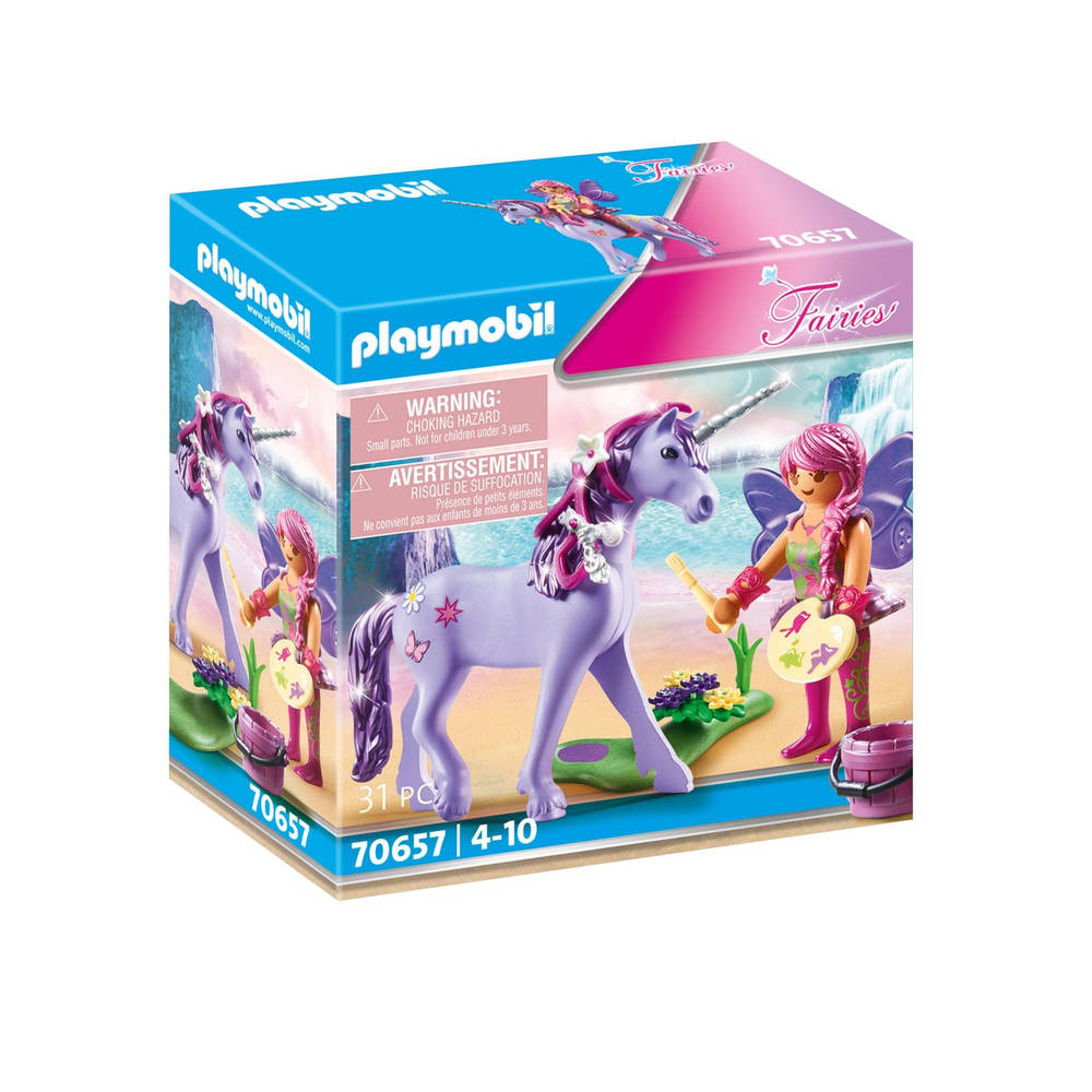 PLAYMOBIL Fairies eenhoorn met decoratieve fee 70657