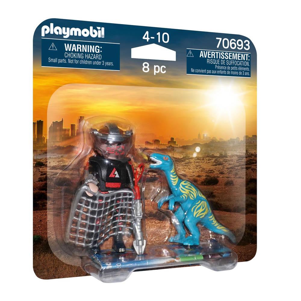 PLAYMOBIL duopack Velociraptor vs stroper 70693