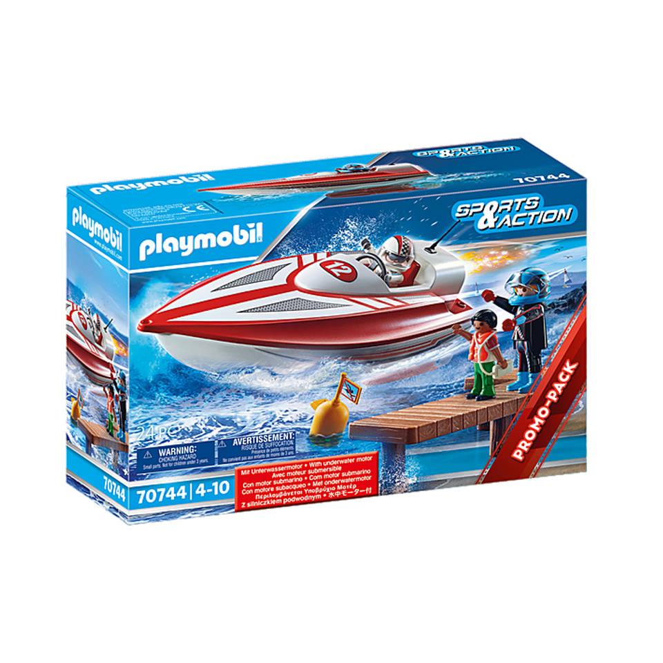 PLAYMOBIL speedboot met onderwatermotor 70744