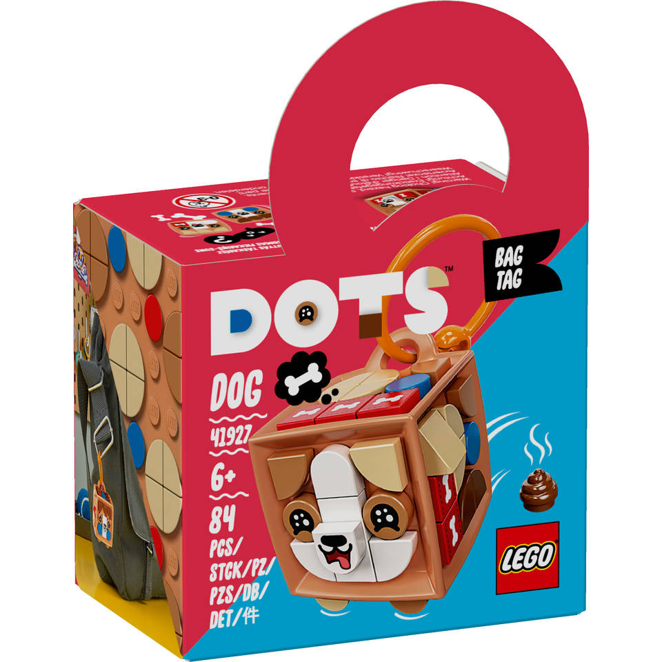 LEGO DOTS tassenhanger hond 41927