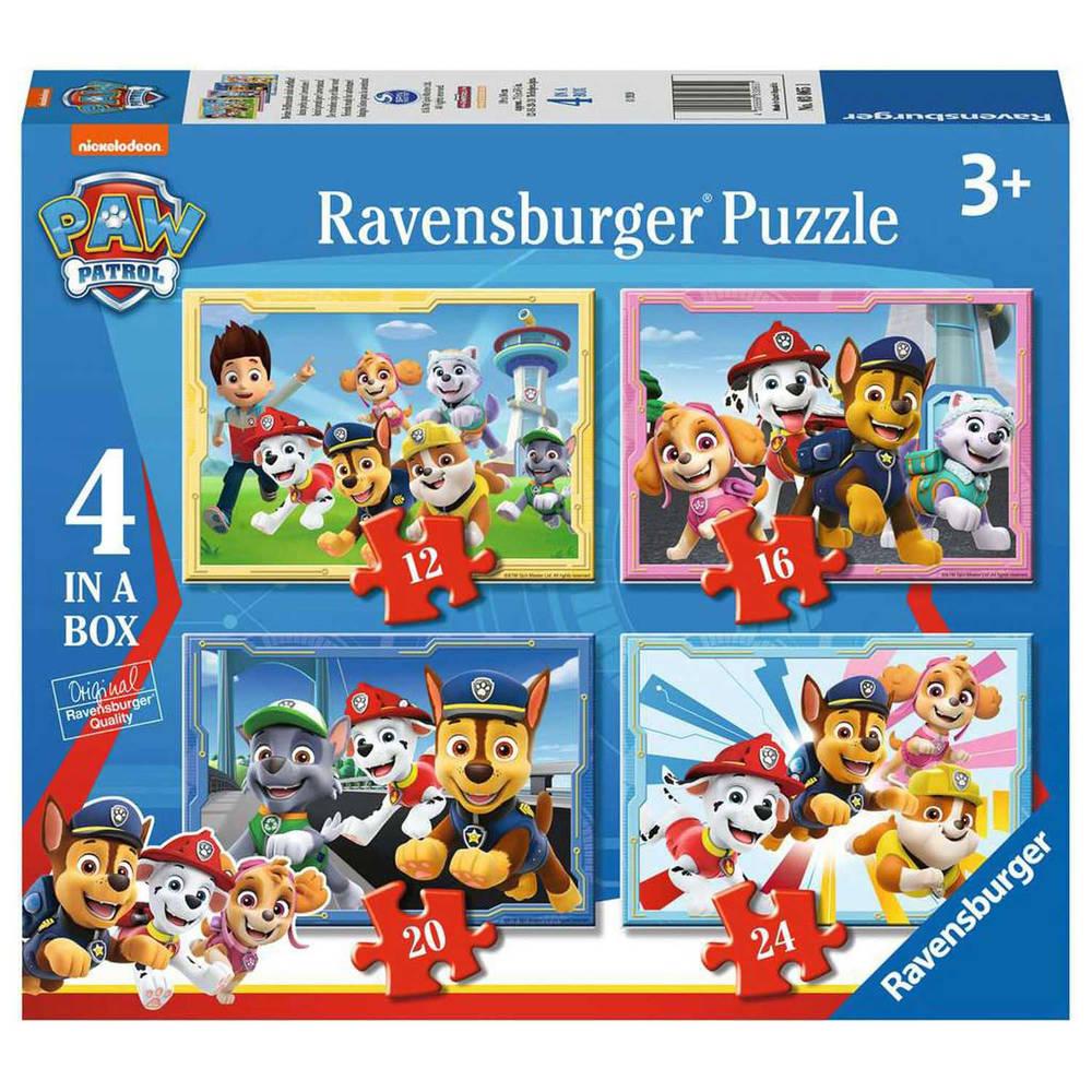 Ravensburger 4-in-1 puzzelset PAW Patrol - 12 + 16 + 20 + 24 stukjes