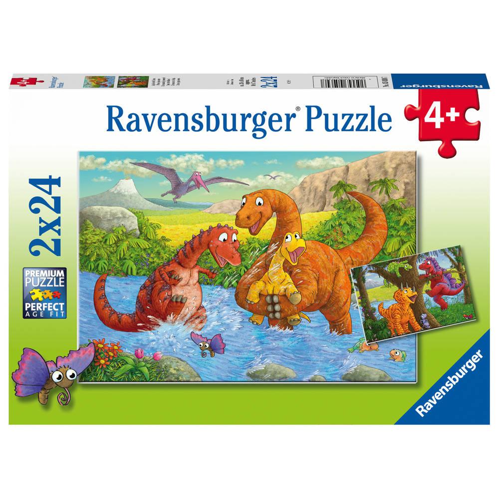 Ravensburger puzzelset Vrolijke dino's - 2 x 24 stukjes