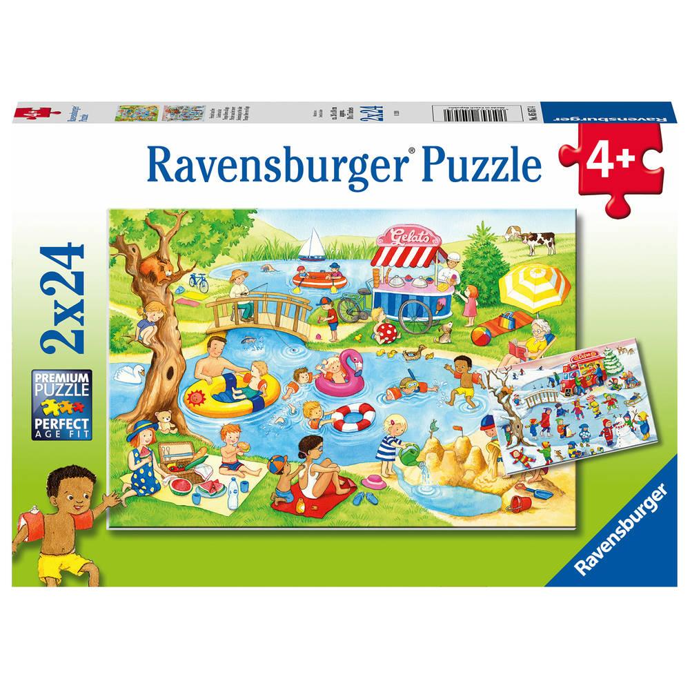 Ravensburger puzzelset Plezier aan het meer - 2 x 24 stukjes