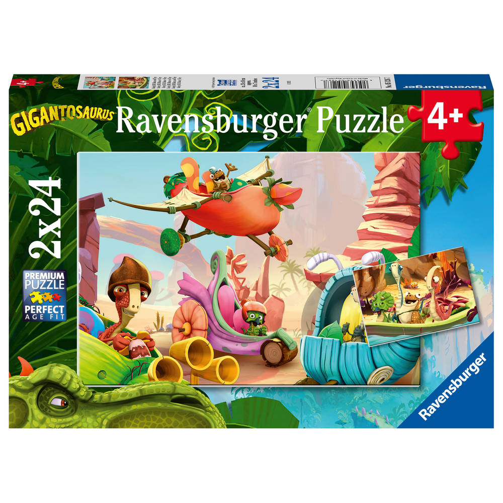 Ravensburger puzzelset Rocky Bill Mazu en Tiny - 2 x 24 stukjes