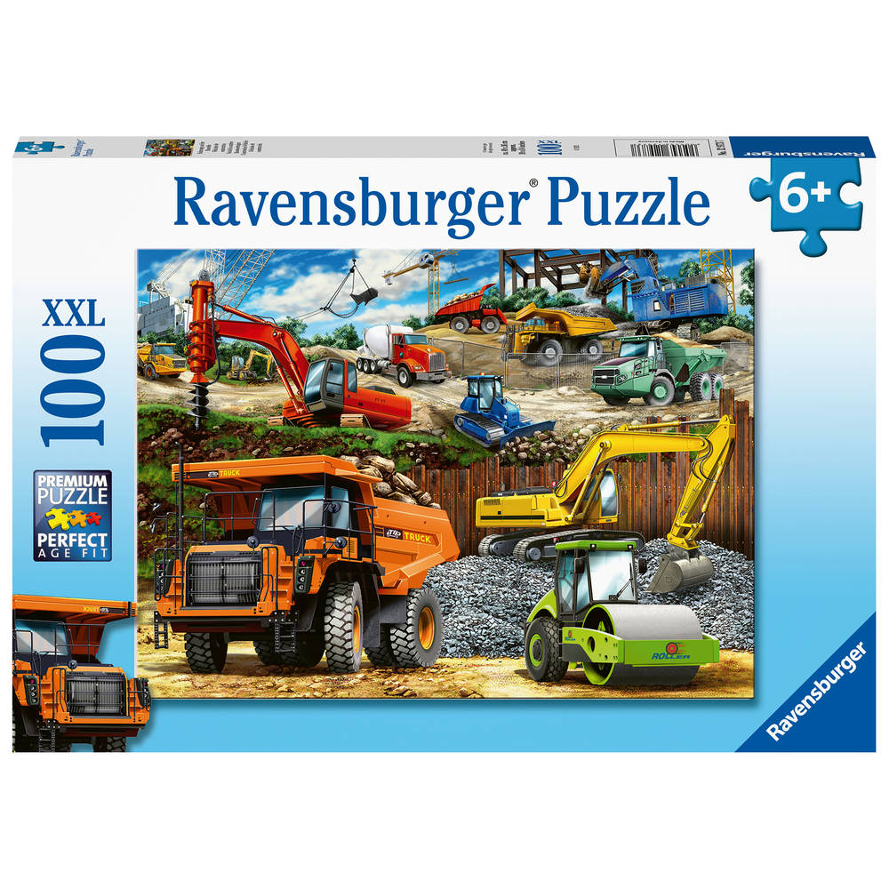 Ravensburger puzzel bouwvoertuigen - 100 stukjes