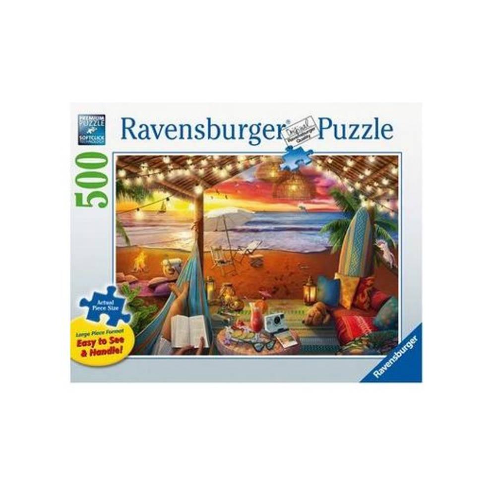 Ravensburger puzzel Gezellige cabana - 500 stukjes