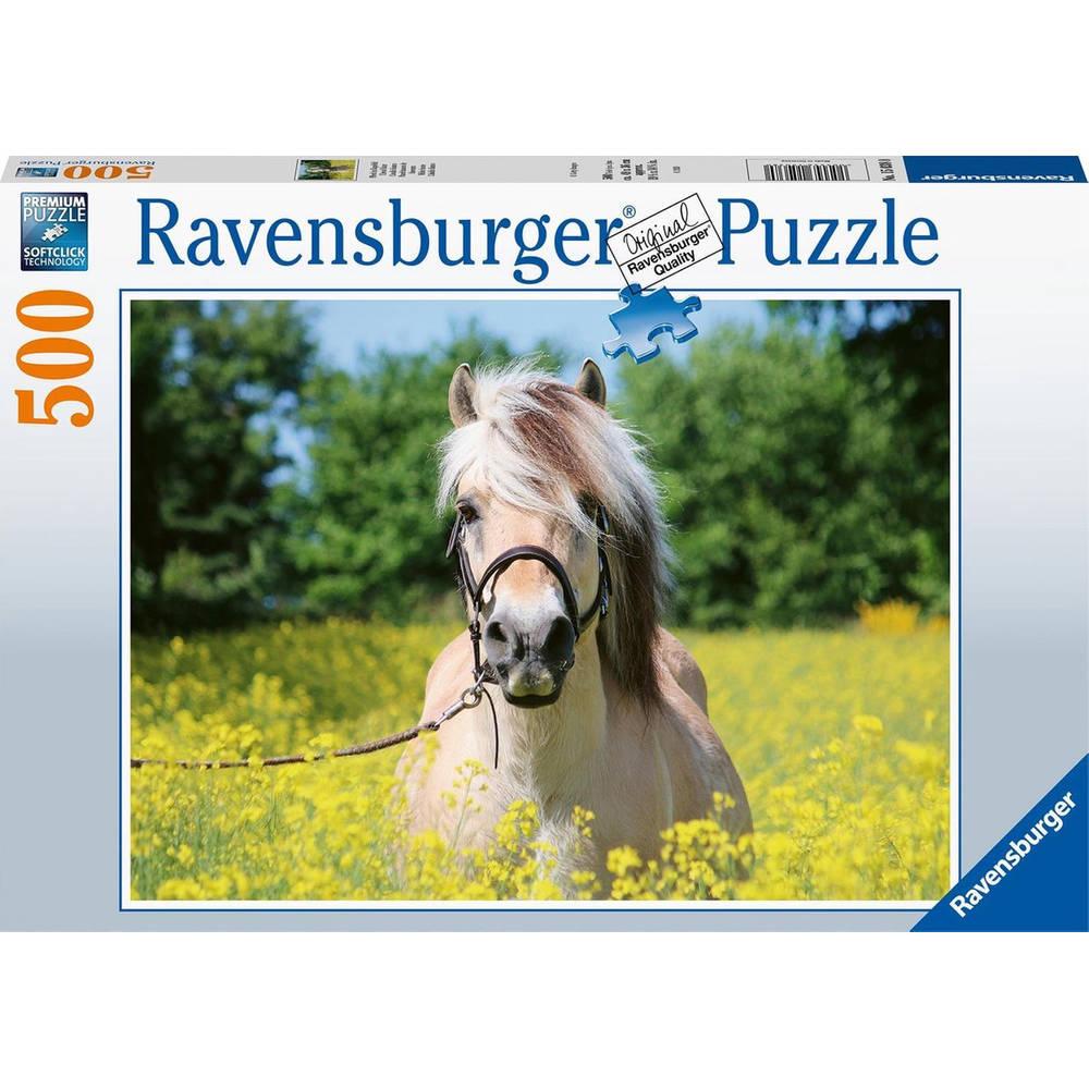 Ravensburger puzzel Paard tussen de bloemen - 500 stukjes
