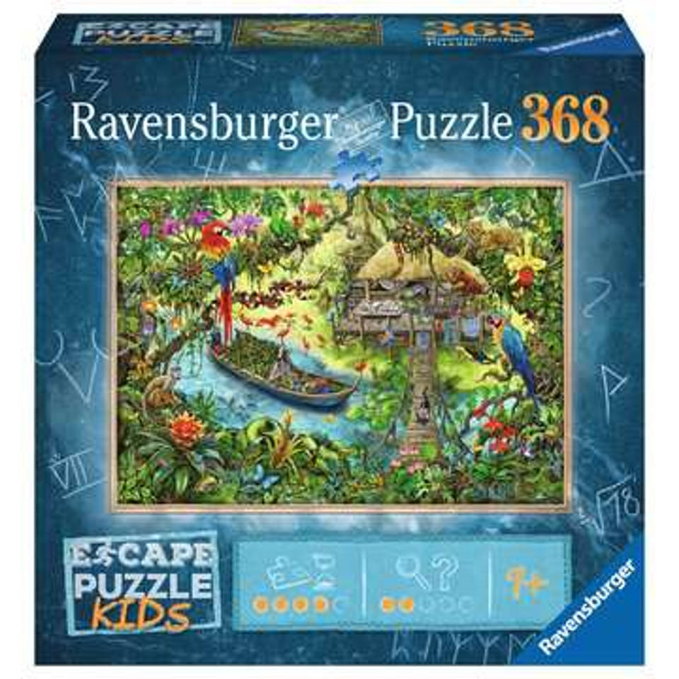 Ravensburger Escape Kids puzzel jungle - 368 stukjes