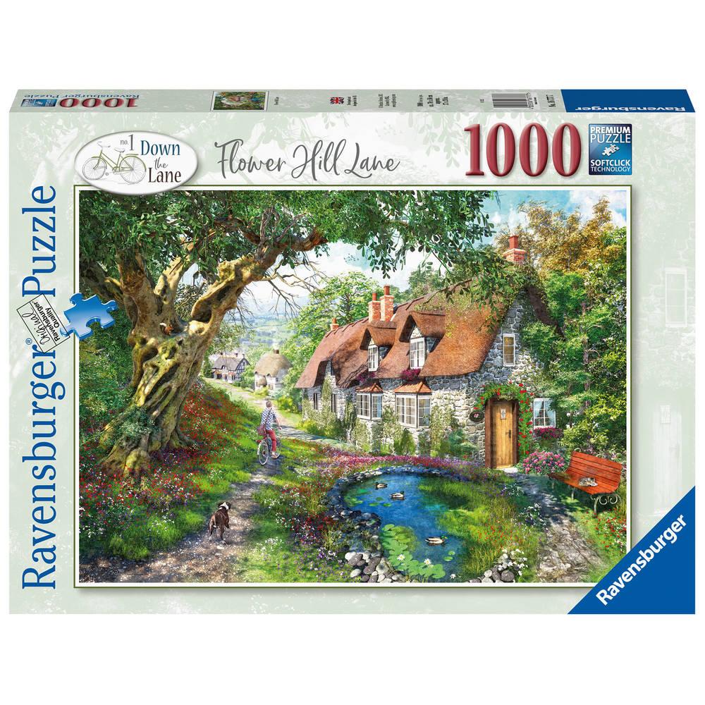 Ravensburger puzzel Flower Hill Lane - 1000 stukjes