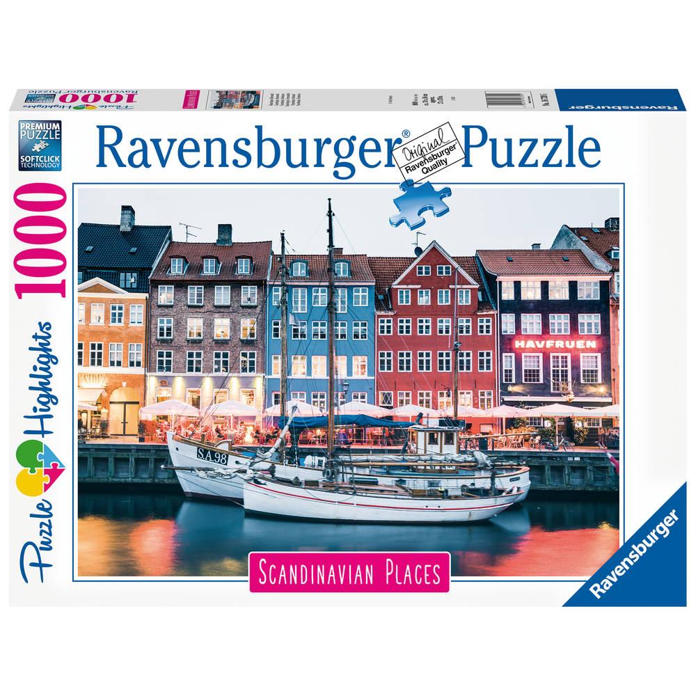 Ravensburger puzzel Kopenhagen Denemarken - 1000 stukjes