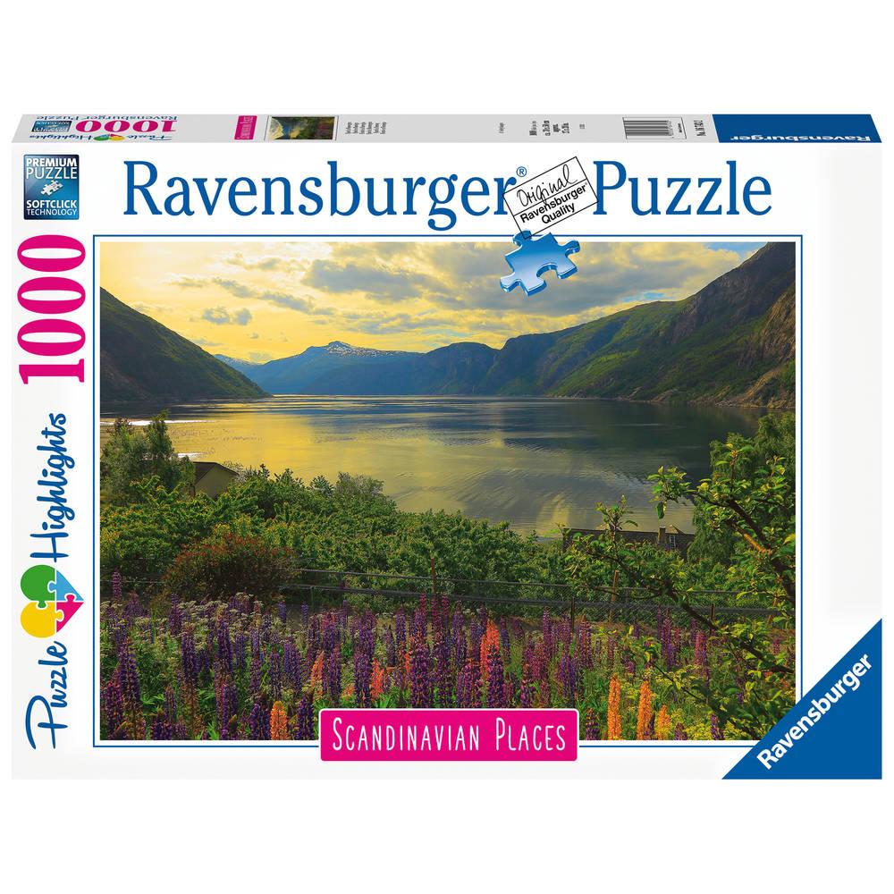 Ravensburger puzzel Fjord in Noorwegen - 1000 stukjes