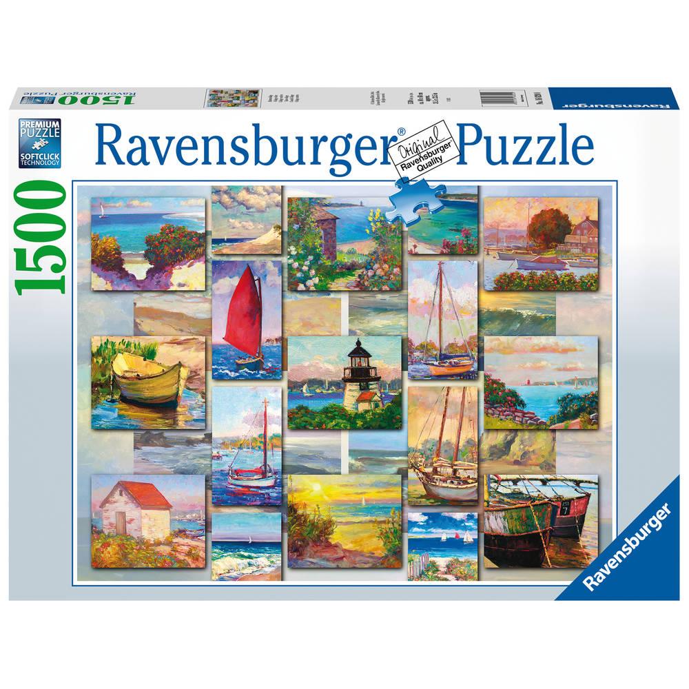 Ravensburger puzzel Coastal collage - 1500 stukjes