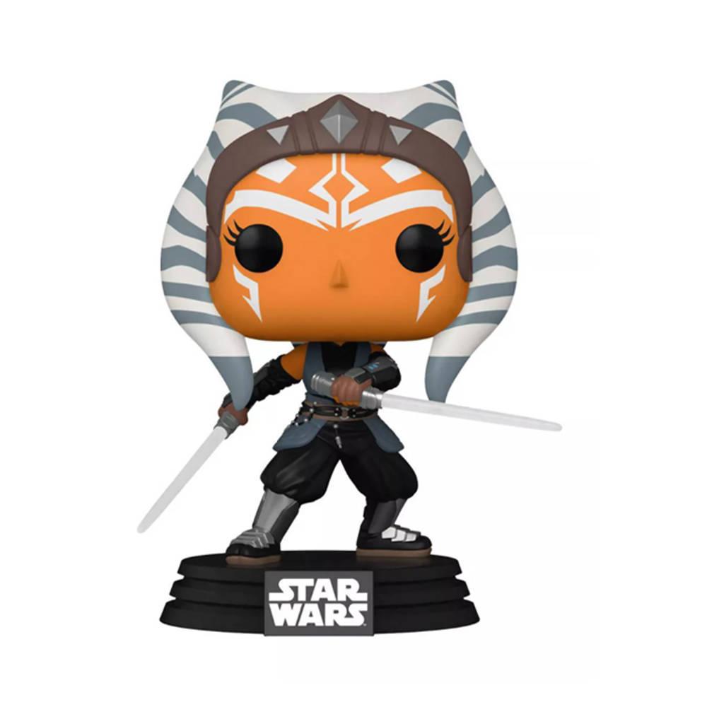 Funko Pop! figuur Star Wars: The Mandalorian Ahsoka met lichtzwaarden