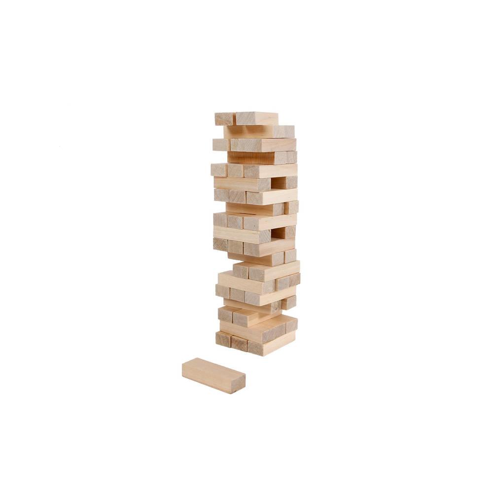 Wiebel stapeltoren hout 48-delig