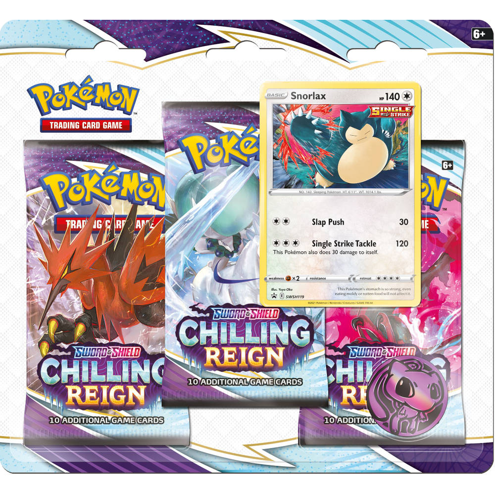 Pokémon TCG Sword & Shield Chilling Reign boosterblister