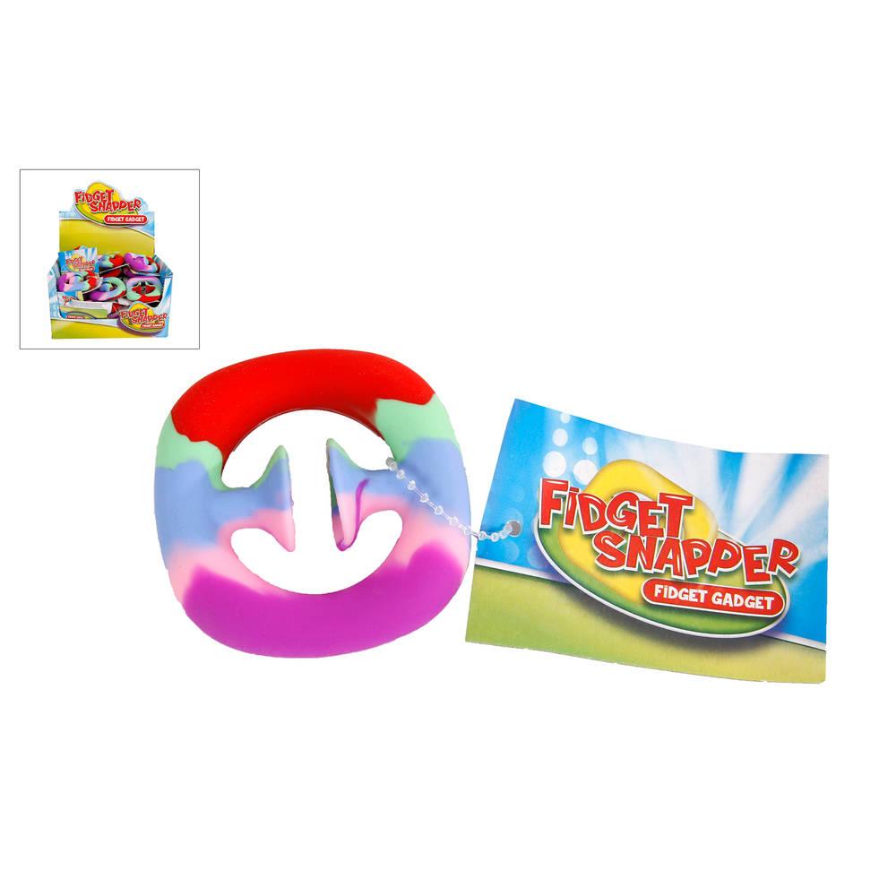 Fidget Hand Snapper regenboog - 6 cm