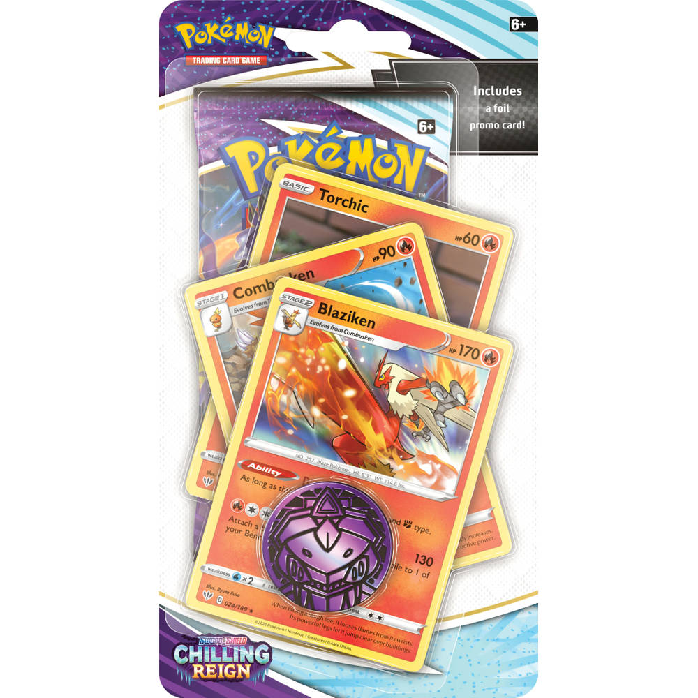 Pokémon TCG Sword & Shield Chilling Reign Premium Checklane blister Blaziken