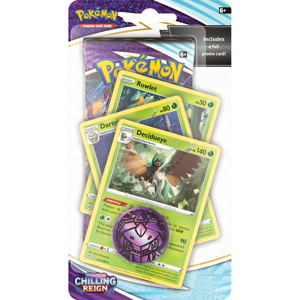 Pokémon TCG Sword & Shield Chilling Reign Premium Checklane blister Decidueye