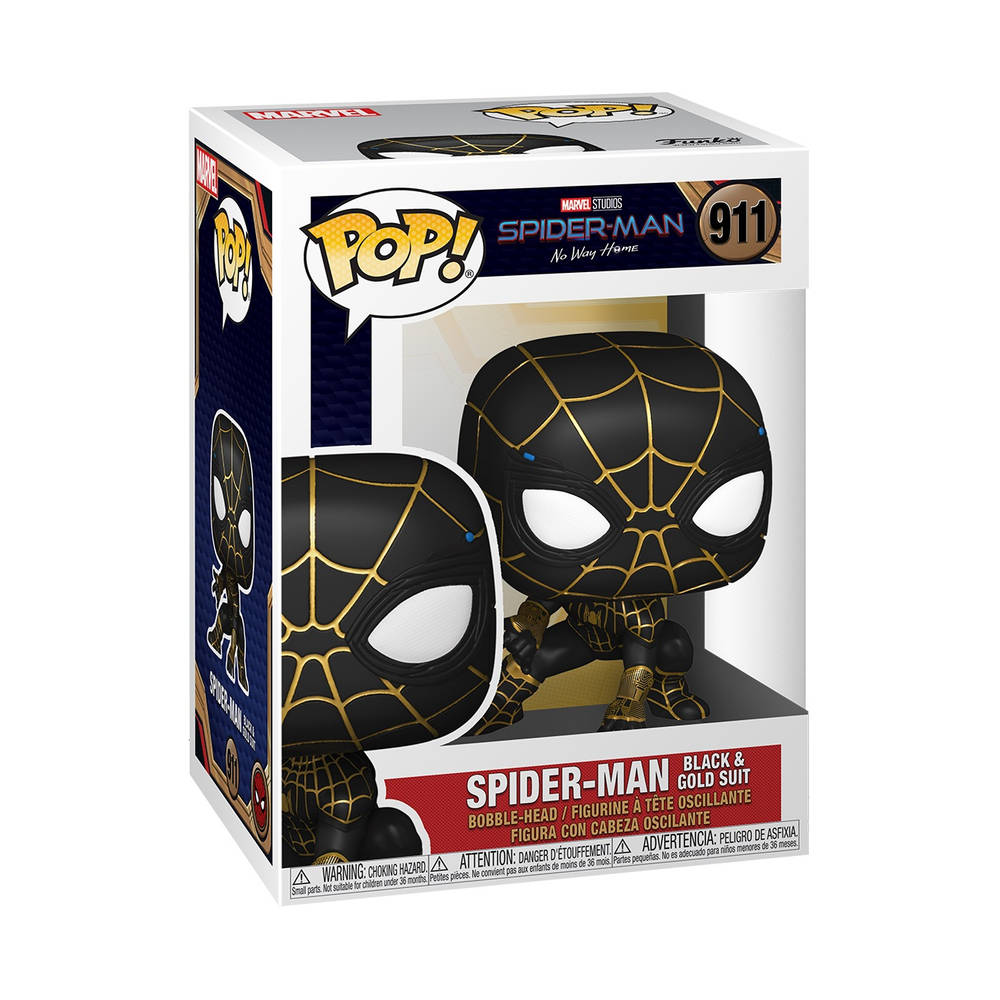 Funko Pop! figuur Marvel Spider-Man: No Way Home Spider-Man Black & Gold Suit