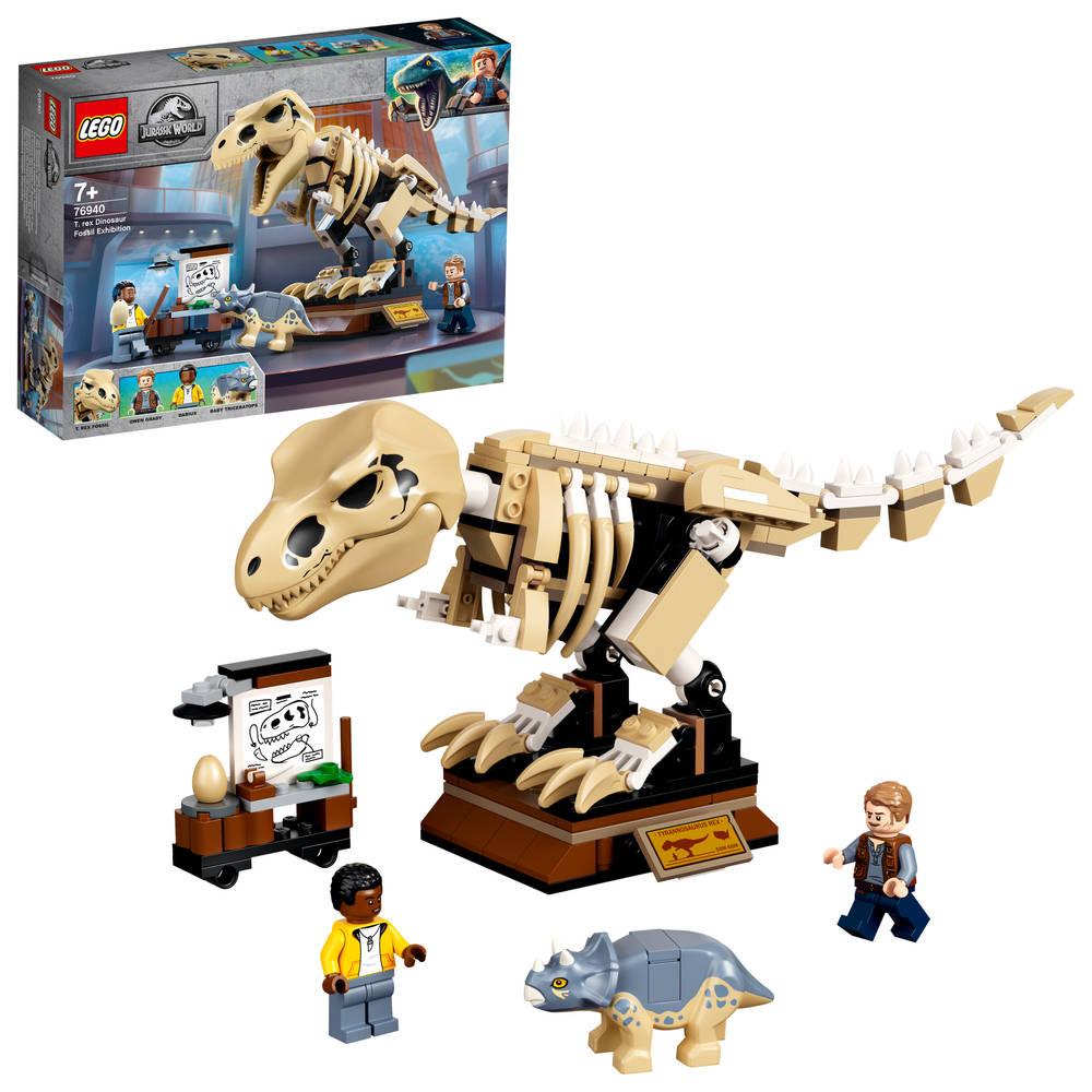 LEGO Jurassic World T-Rex dinosaurusfossiel tentoonstelling 76940