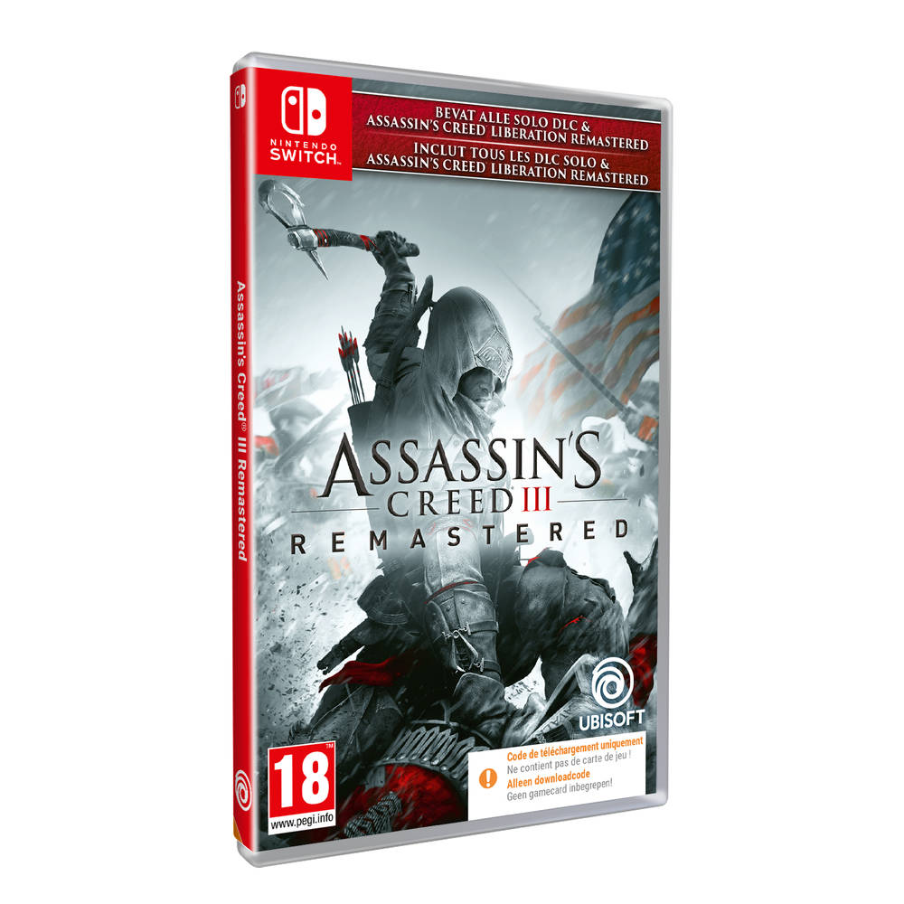 Nintendo Switch Assassin's Creed III Remastered - code in a box