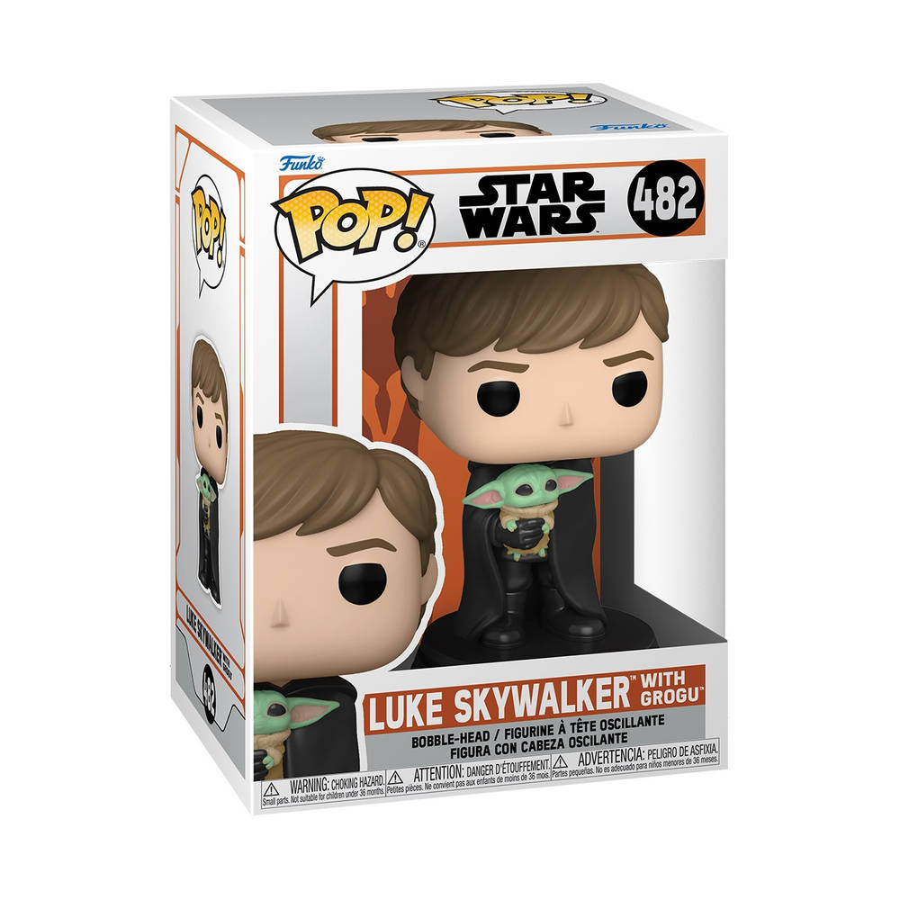 Funko Pop! figuur Star Wars: The Mandalorian Luke Skywalker met Grogu