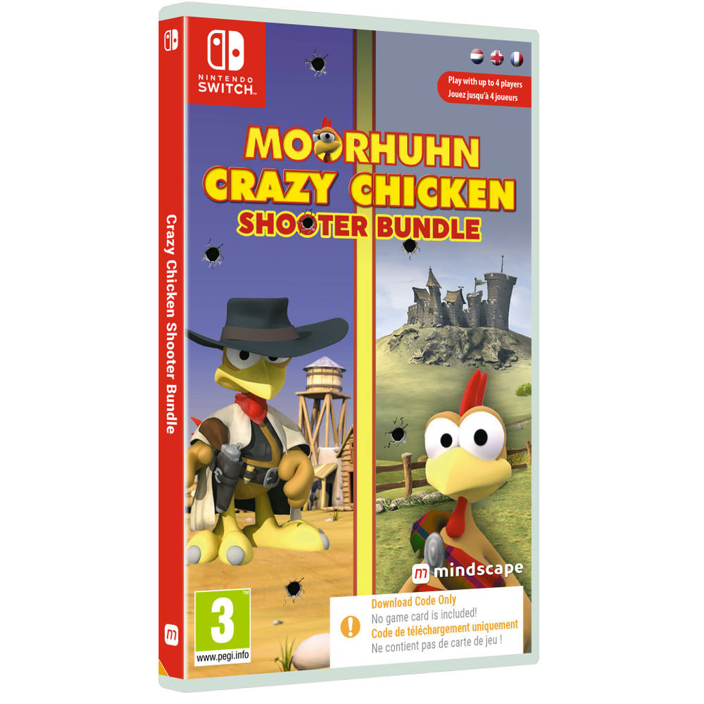 Nintendo Switch Moorhuhn Crazy Chicken Shooter Bundle - code in a box