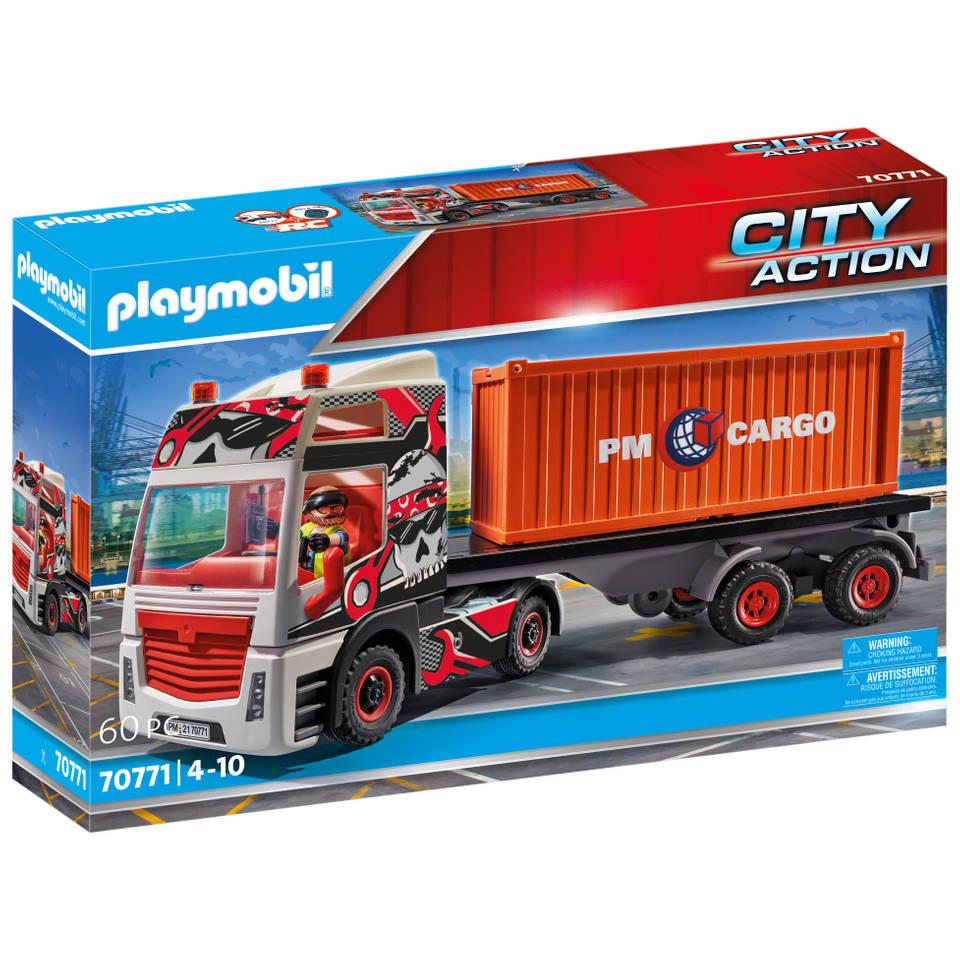 PLAYMOBIL City Action truck met aanhanger 70771