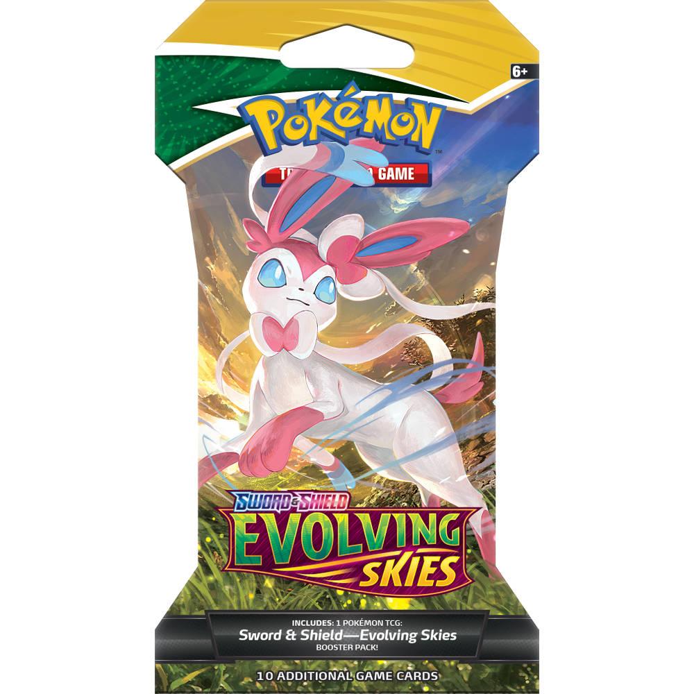 Pokémon TCG Sword & Shield 7: Evolving Skies sleeved booster