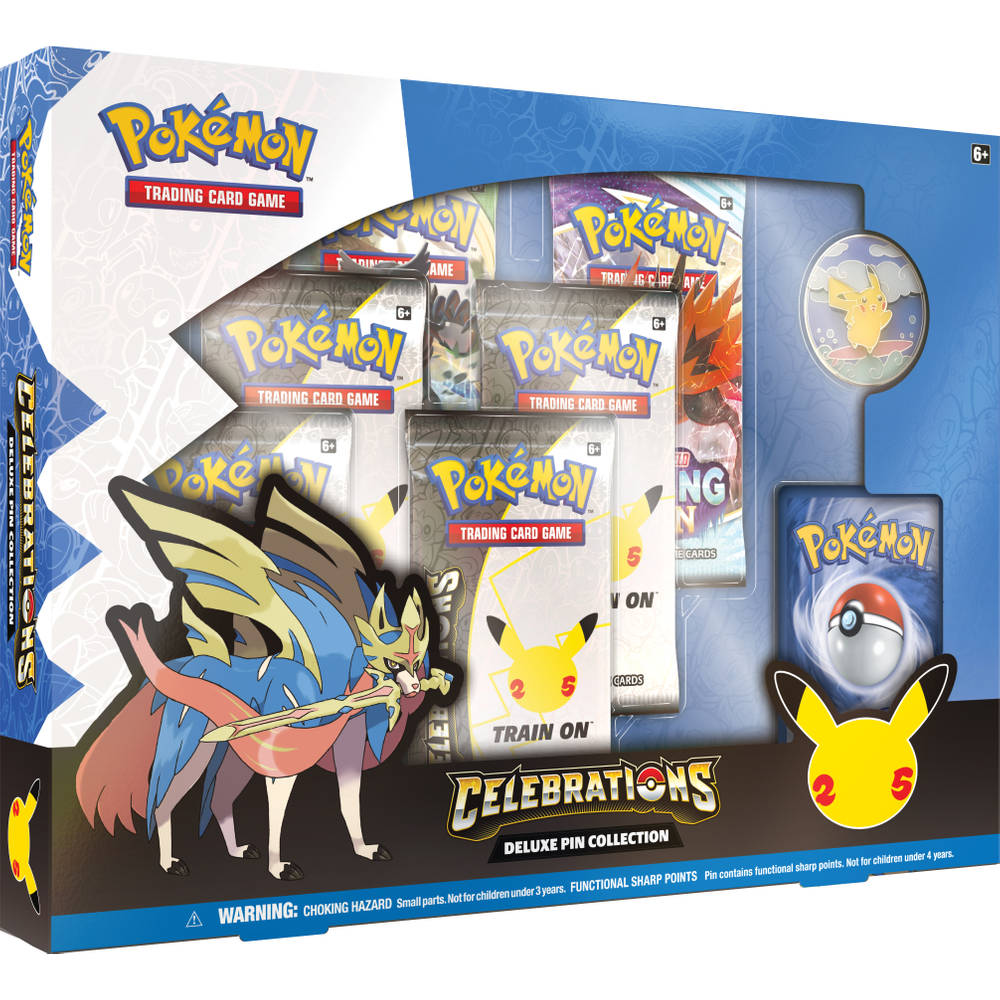 Pokémon Trading Card Game Celebrations deluxe pin collection