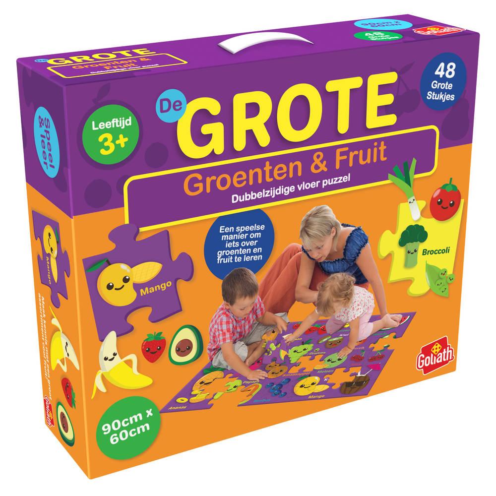 Grote vloerpuzzel groenten en fruit - 48 stukjes
