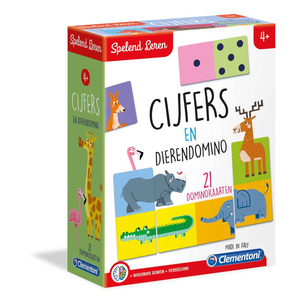 Clementoni Spelend Leren cijfers en dierendomino