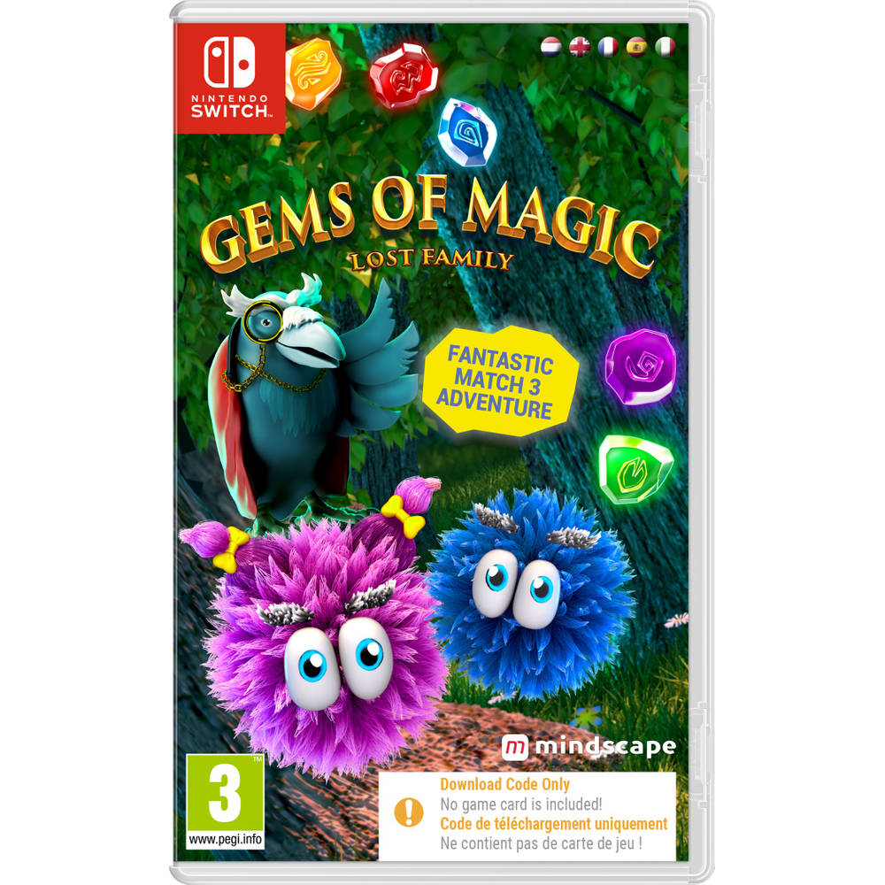 Nintendo Switch Gems of Magic: Lost Family - code in a box