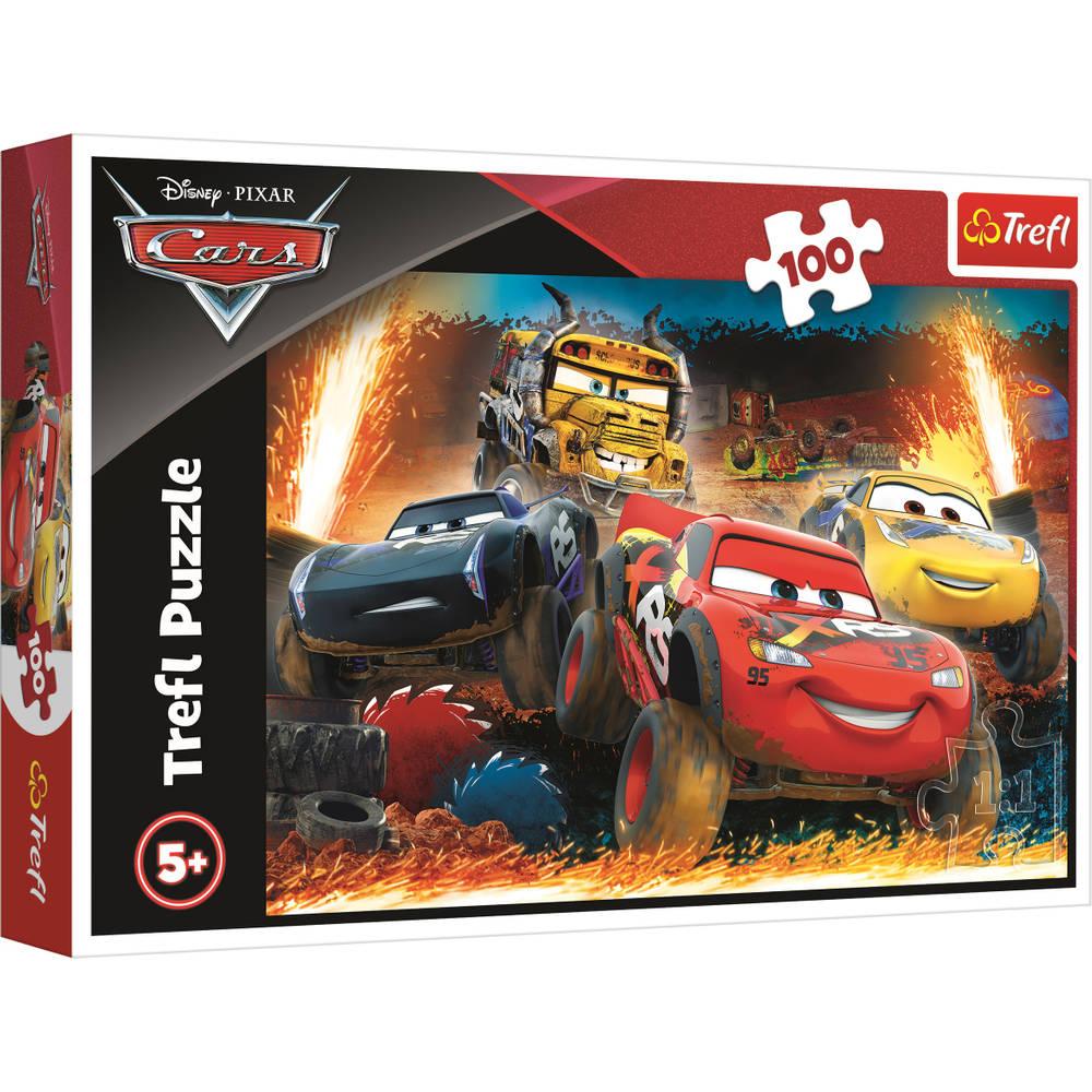 Trefl Disney Cars 3 puzzel Extreme race - 100 stukjes