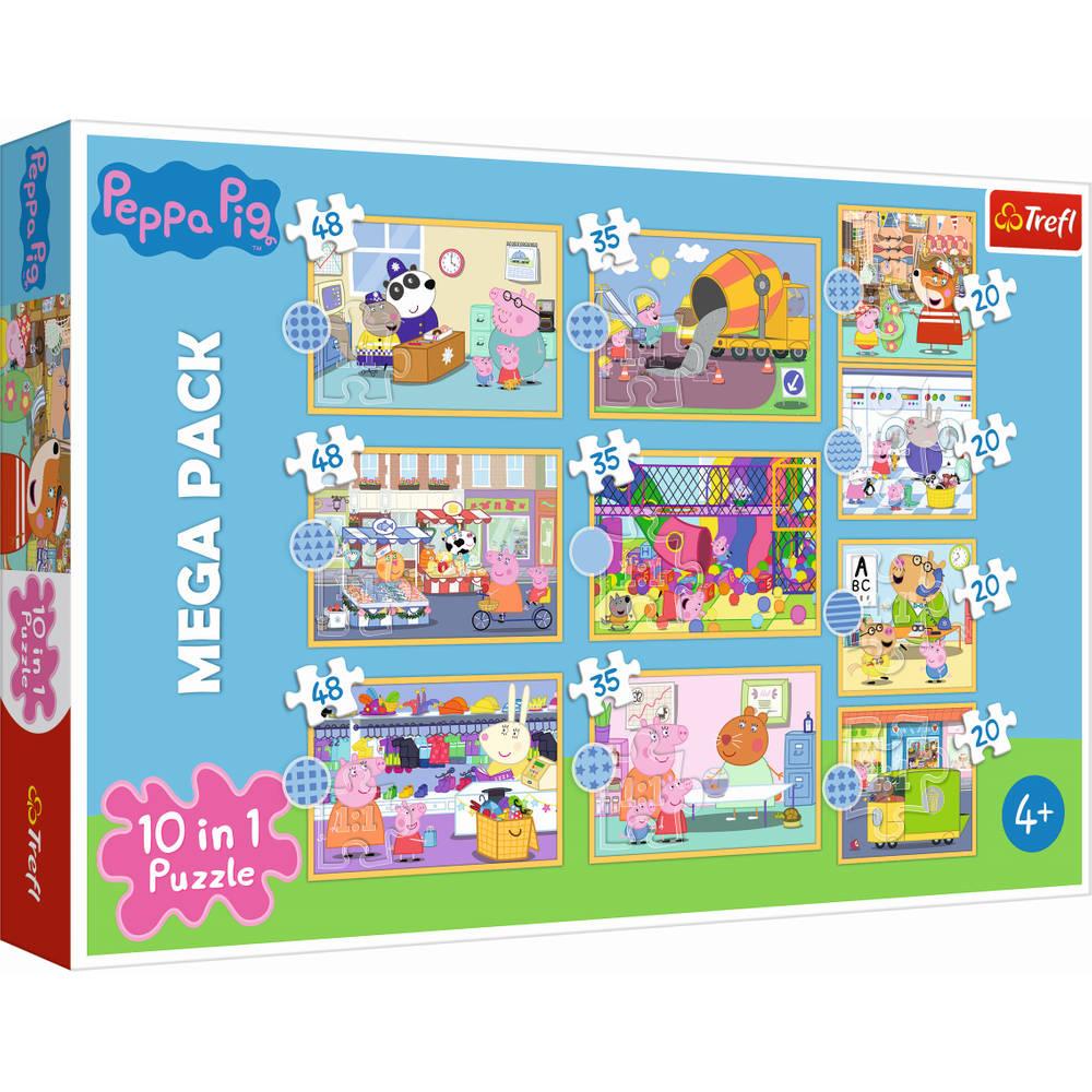 Trefl 10-in-1 puzzelset Ontmoet Peppa Pig - 20 + 35 + 48 stukjes