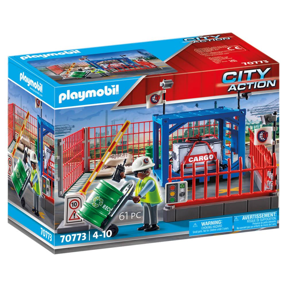 PLAYMOBIL City Action cargo goederenmagazijn 70773